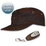 Cappello spia con microtelecamera nascosta e telecomando per controllo a distanza